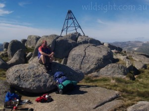 Breakfast on Mount Twynam