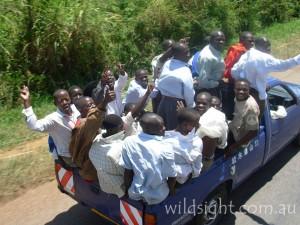 Catching a lift in Uganda