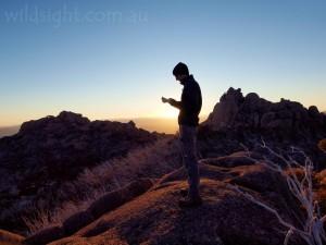 Exploring near the Sentinal at sunrise