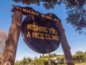 Lemosho Route gate, Mt Kilimanjaro