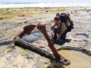 Marie Gabrielle anchor, Wreck Beach