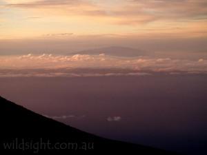 Mauna Kea from Haleakala, Hawaii