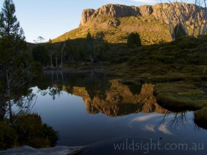 Solomons Throne reflected in tarn