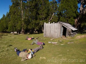 Taking a break at Dixons Kingdom Hut