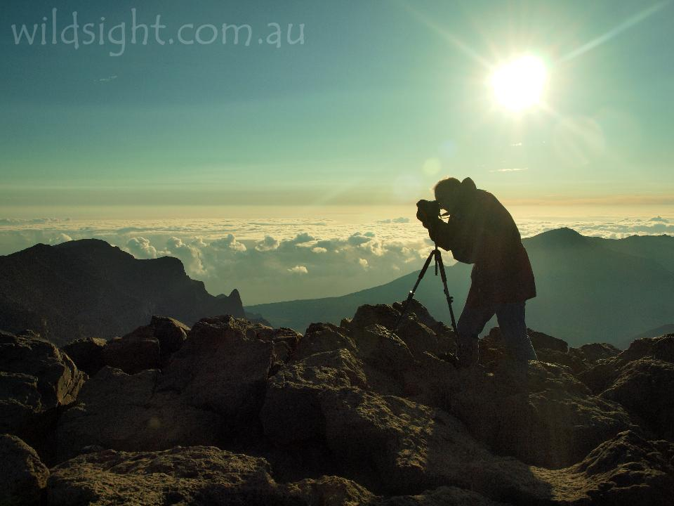 Sunrise photos at the summit of Haleakala, Hawaii