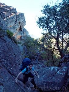 On the climb up Mt Gar