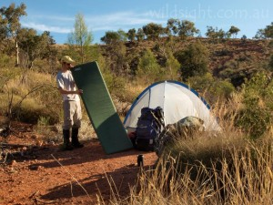 Camping below Mount Gee