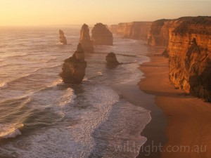 12 Apostles before the collapse of the rock stack in the foreground