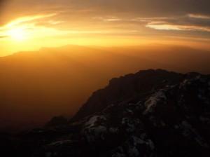 Mount Gar sunset