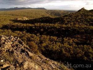 Wild country near Mount Stapylton