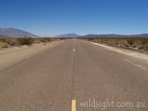 Highway 190 cuts through Death Valley, California