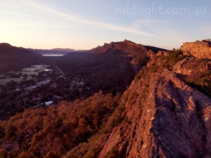 Sunrise over Halls Gap from Chatauqua Peak