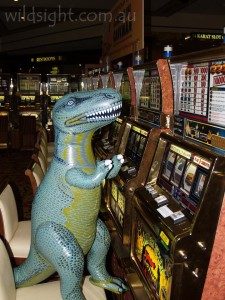 T-Rex in casino, Las Vegas