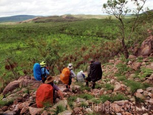 Off-track walking in Kakadu