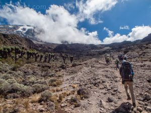 Approaching Karanga camp, Mt Kilimanjaro