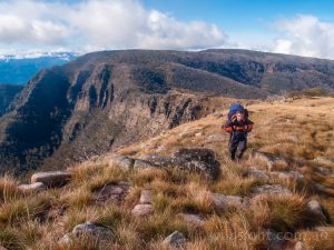 Hiking near Devils Staircase, Alpine National Park Victoria